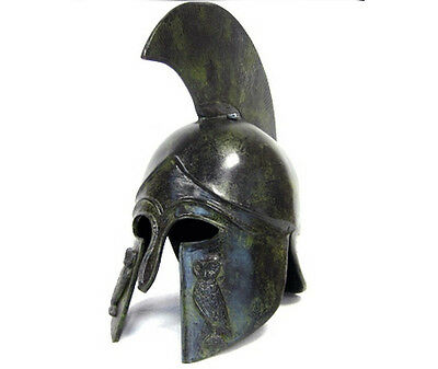 Athenian ancient Greek 100% Bronze Helmet Museum Replica Reproduction