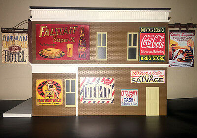 Riverside Auto Salvage >> Weathered Metal O Scale Riverside Auto Salvage Building Diorama