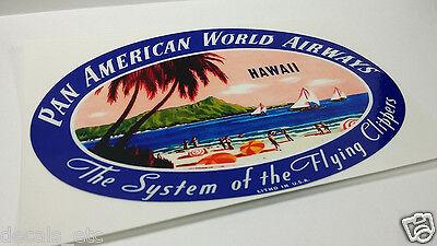 American Airlines Hindenburg Vintage Style Decal Vinyl Sticker Luggage Label