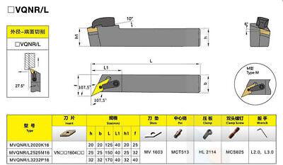 MVJNR 2525M16 25×150mm Index External Lathe Turning Holder For VNMG1604 inserts
