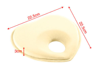 NEW cover included Baby head support prevent flat head pillow comfortable UK
