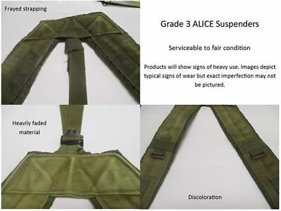 US Military Alice Y SUSPENDERS LBE Load Bearing Shoulder Web Harness OD Fair 8