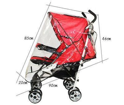 Quality Universal Buggy Pushchair Stroller Pram Transparent Rain Cover Vent Baby 5