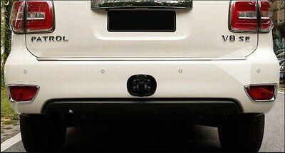 2Pcs Chrome Rear Fog Light Lamp Cover Trims For Nissan Patrol Y62 2015-2018