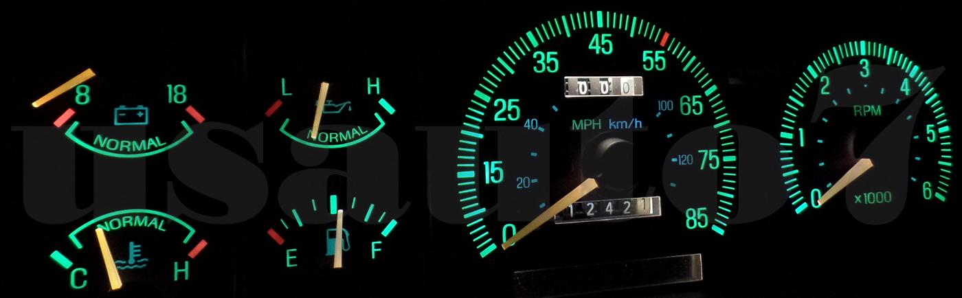 New Dash Instrument Cluster Gauge White Led Lights Kit Fits