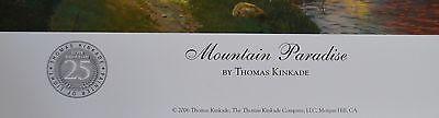 Thomas Kinkade Unframed Mountain Paradise Print 8x11
