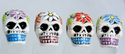 Skull Bone Shaped Glazed Beads Ceramic Bones Ceramic Skulls Day Of The Dead 2 99 Picclick Uk