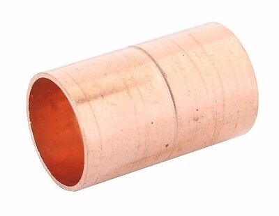 "1 1/2"" Coupling Rolled Stop C x C Sweat Ends - COPPER PIPE FITTING 2"