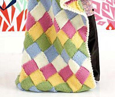 KNITTING PATTERN for Baby Blanket for Pram//Cot 4PLY 0040