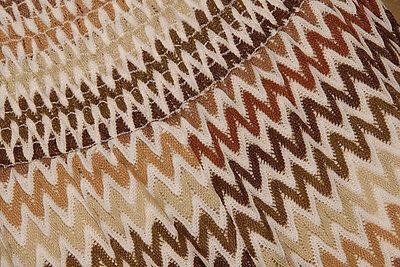 edc7dcf907 ... SHOW ME YOUR MUMU - Retro Open Knit Brown Chevron BEACH COVER UP PANTS  size L