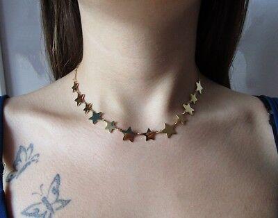 Collana con 12 stelle in acciaio 316L - Oro/Argento Moda Novità 2