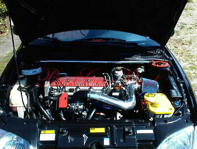 "3/"" BLUE Short Ram Air Intake Kit Filter For 1998-2002 Cavalier Sunfire 2.2L L4"