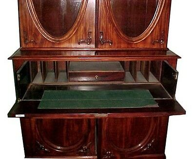 Mahogany Butler's Secretary Desk/Entertainment Center #4561 2