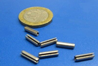 """Zinc Plate Steel Slotted Roll Spring Pin, 3/32"""" Dia x 3/8"""" Length,  500 pcs 7"""