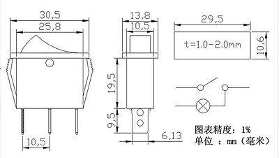 50PCS KCD3-103 SPDT ON-OFF-ON Boat Rocker Switch 15A//125VAC 10A//250VAC