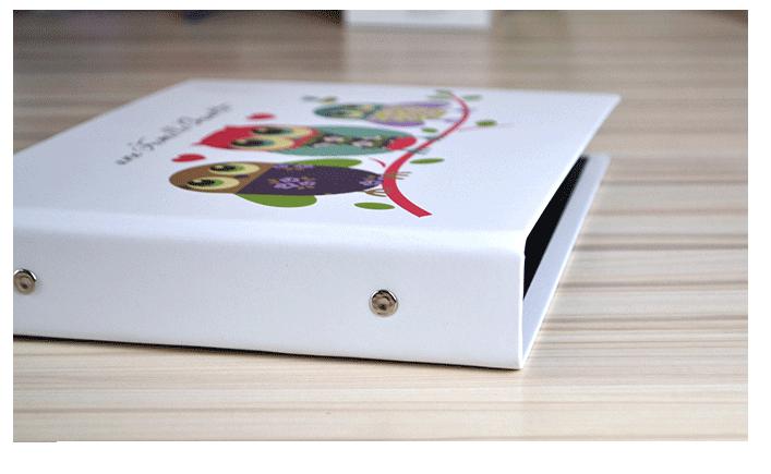 DIY 25 Pages 2-Ring Binder OWL Scrapbook Album Wedding Guest Book Baby Show