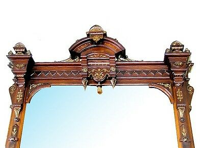 Antique Victorian Mantle and Over Mirror #5709 3
