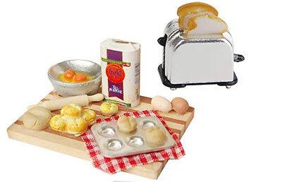 1:12 Dollhouse Miniature Furniture Toaster Bread Machine Kitchen Cookware 3Pcs *