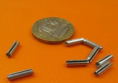 """Zinc Plate Steel Slotted Roll Spring Pin, 3/32"""" Dia x 3/8"""" Length,  500 pcs 4"""