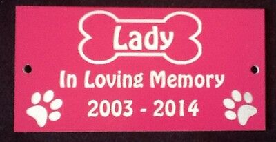Personalised Pet Dog Memorial Plaque - Various Colours 5
