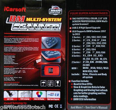 BMW X1 X3 X5 X6 Diagnostic Scanner Tool Fault Code Reset 2000+ E70 E71 E83  E84 M