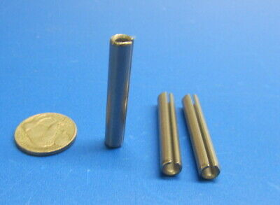 """420 Stainless Steel, Slotted Roll Spring Pin, 1/4"""" Dia x 1 1/2"""" Length, 25 pcs 8"""