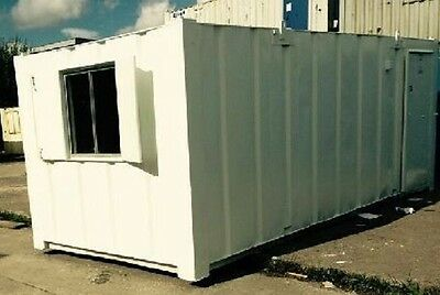 21ft x 9ft Anti Vandal Office Container - WHITE SECURE  Best Value