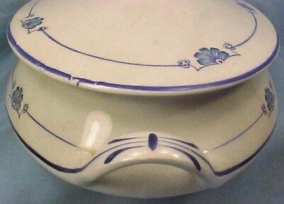Homer Laughlin Empress Covered Tureen E6003 Casserole Dish Antique 1914 4