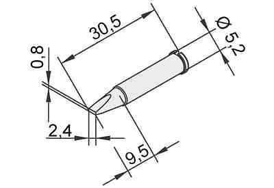 ERSA Lötspitze 102CD-LF16 für i-Tool gerade meißelförmig 1,6 mm 102CDLF16