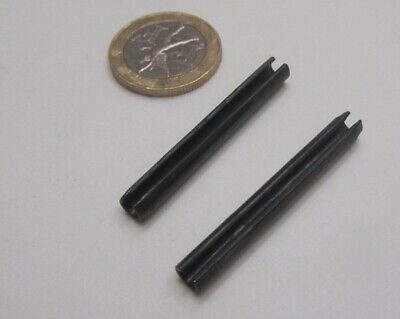 Metric Steel Slotted Spring Pin, M5 Dia x 40 mm Length, 100 pcs 8