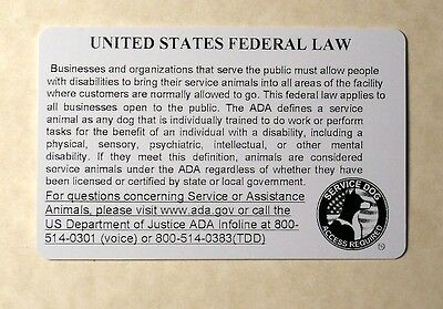 Service Dog  Id Card For Service Animal Professional Ada Rated 0 2
