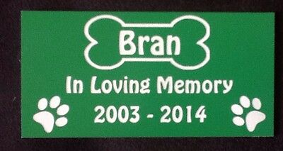 Personalised Pet Dog Memorial Plaque - Various Colours 7