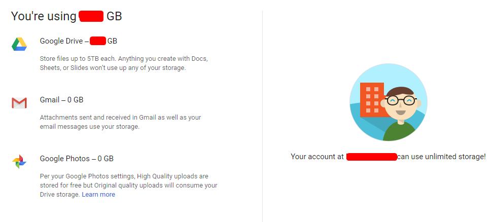 gsuite lifetime unlimited space Google Drive [custom account] [not .edu] 2