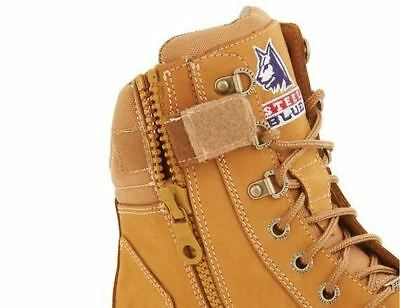 a93c3040054 STEEL BLUE SOUTHERN Cross Zip Boots Wheat Safety Toe 312661 Bump Cap