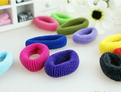 Hair Mini Bobble Ponytail Ties Band Scrunchies Candy Styling Elastic Snag Free 3