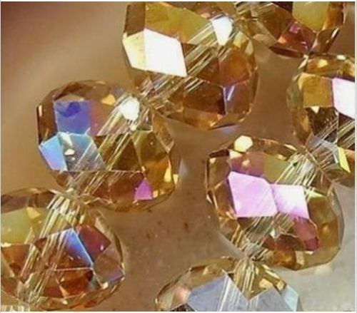 Wholesale Faceted 70pcs Rondelle glass crystal 6*8mm Beads U pick colors 9