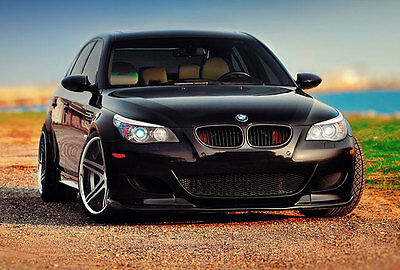 Bmw 5 Series E60 Performance Matte Black Kidney Euro Sport Front Grill M5 04 10