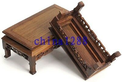 3Pc Unique Suiseki Display*rosewood*carved For Vase&bonsai Table 4