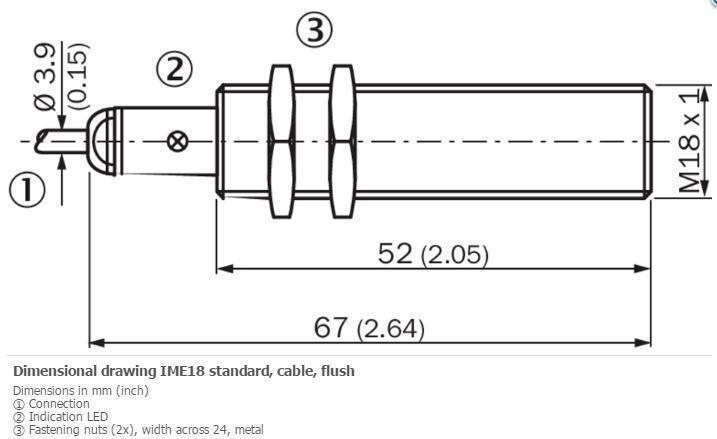 H● SICK  IMF12-08NNSVC0S Cylindrical thread design ,NPN ,New 2