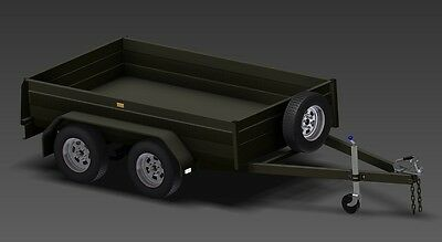 Trailer Plans - TANDEM AXLE BOX TRAILER PLANS - 3 sizes included - PLANS ON USB 5