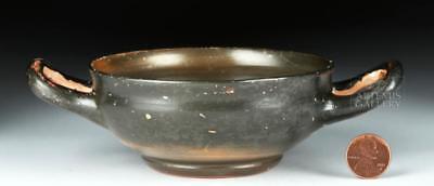 Greek Campanian Pottery Kylix w/ Maker's Initials Lot 24