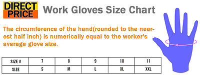 12 24 Pairs Work Gloves Nitrile Coated General Purpose Garden Hand Protection 6