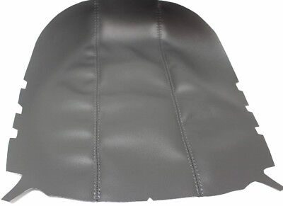 Fits 98-02 Ford Expedition Gray Vinyl Leather Center Console Lid Armrest Cover