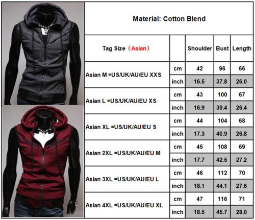 7 von 12 Herren Ärmellos Kapuzenpullover Sweatshirt Weste Sweatjacke Sport  Muskel T Shirt 1ce856e48d