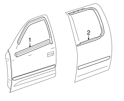 Genuine Toyota Drip Molding Clip 75561-02020