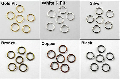 4/5/6/7/8/10/12MM  Wholesale Open Split Jump Rings Connectors Beads jewelry DIY 8