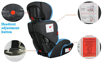 MCC® 3 in 1 Child Baby Car Seat Safety Booster For Group 1/2/3 9-36kg ECE R44/04 4
