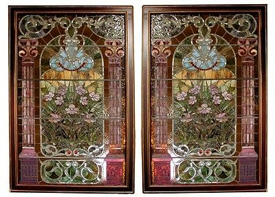 Pair of Stained Glass Windows 19th Century  John LaFarge  #4454B 2