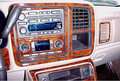 Chevrolet Chevy Tahoe Interior Burl Wood Dash Trim Kit Set 2003 2004 2005 2006 Picclick
