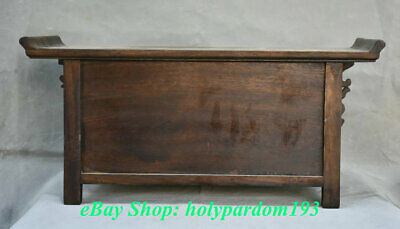 """23"""" Old Chinese Huanghuali Wood Dynasty Drawer Classical Cupboard Cabinet Desk 7"""